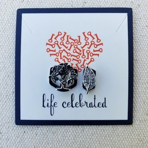 Keep Collective *Pave Leaf & Tree* Charm Set